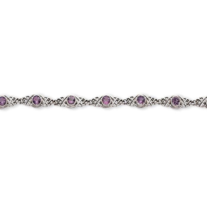 Bracelet en argent Sterling 7,25 pouces-Fermoirs-Mousquetons