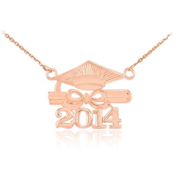 Pendentif Pendentif 14 ct Or Rose 585/1000Classe de 2014 Graduation-