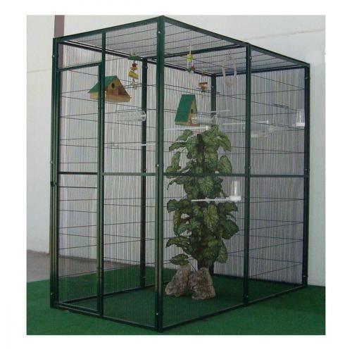 voliere d 39 interieur 2m avec toit en maille achat vente voli re cage oiseau voliere d. Black Bedroom Furniture Sets. Home Design Ideas