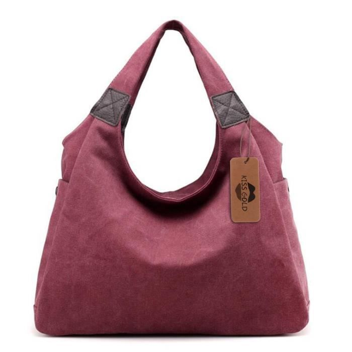 Kiss Gold Tm) Simple style vintage toile Totes Sac besace YXQJ2