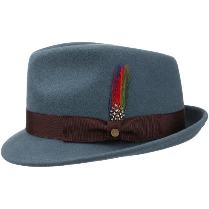 12647322eae75 STETSON Chapeau Richmond Trilby Bleu Bleu - Achat   Vente chapeau ...
