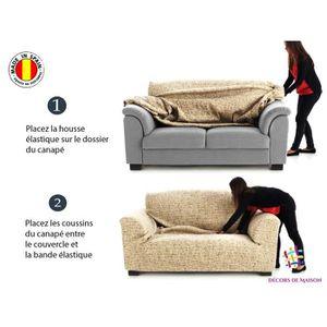 Housses canape 3 places et 2 fauteuils achat vente for Housse de fauteuil 3 places
