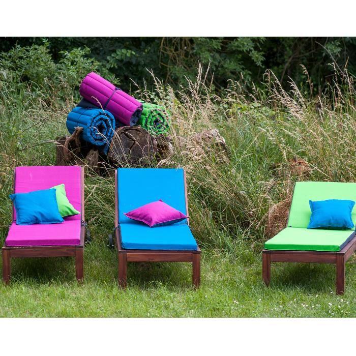 jardin prive coussin bain de soleil 186x55x5cm bleu p trole ebay. Black Bedroom Furniture Sets. Home Design Ideas