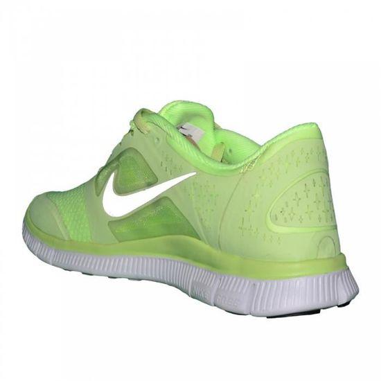 purchase cheap 5a2f4 49e13 Nike - Basket Running - Femme - Free Run - Vert Fluo   Argent Vert - Achat    Vente basket - Cdiscount
