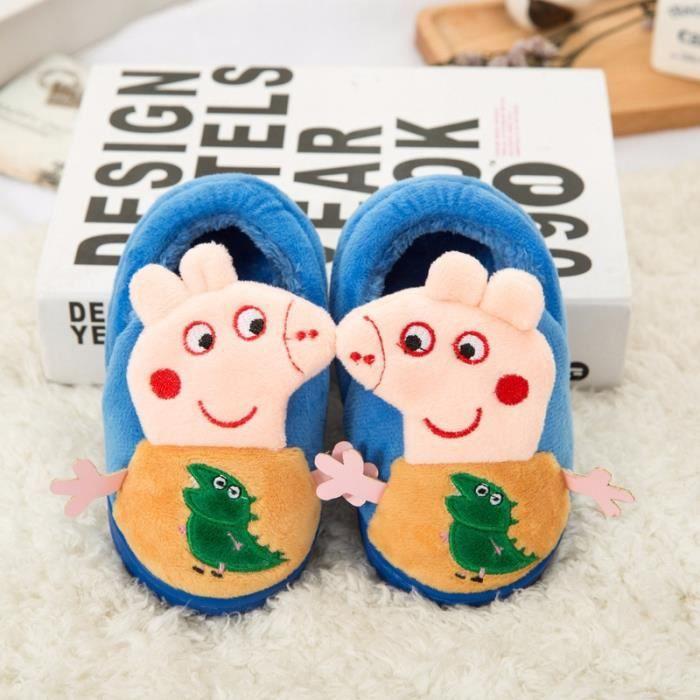 Bébé en hiver bande chaussures Chaussures d'intérieur coton de peluche dessinée de 44awxrq