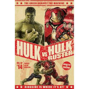 AFFICHE - POSTER Avengers Poster - 2, Age Of Ultron, Hulk Vs Hul…