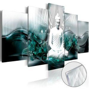 PARAVENT Tableau sur verre acrylique     Azure Meditation [