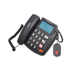 Téléphone fixe Nordmende EASYHOME300SOS, Téléphone analogique, Co
