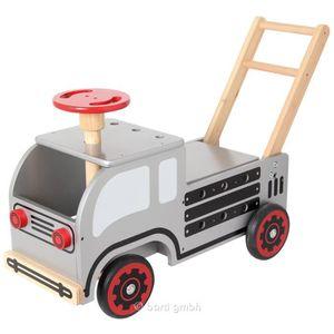 PORTEUR - POUSSEUR Chariot de marche solide en bois avec outillage d'