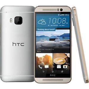 SMARTPHONE HTC ONE M9 GOLD ON SILVER