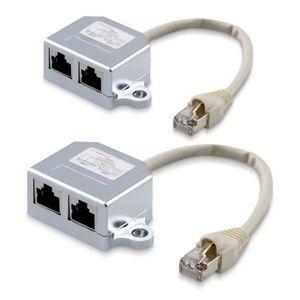 CÂBLE RÉSEAU  kwmobile Répartiteur réseau port Ethernet - Cat 5e