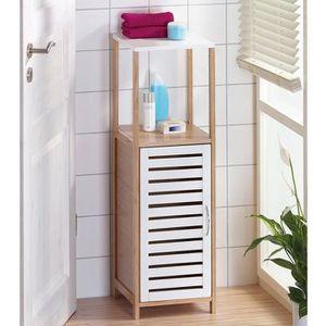 COLONNE - ARMOIRE SDB Meuble colonne de salle de bain - 2 étagères et 1
