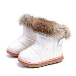 Frankmall®Bébé bambins bottes garçon enfant hiver bottes de neige épaisses chaussures de fourrure MARRON#WQQ0926033 UOzhC3Ei