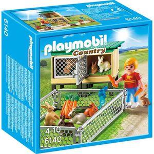 UNIVERS MINIATURE PLAYMOBIL 6140 Enfant avec enclos à lapins et clap