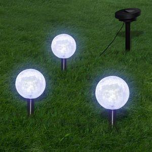 LAMPE DE JARDIN  Boule solaire LED 3 pièces