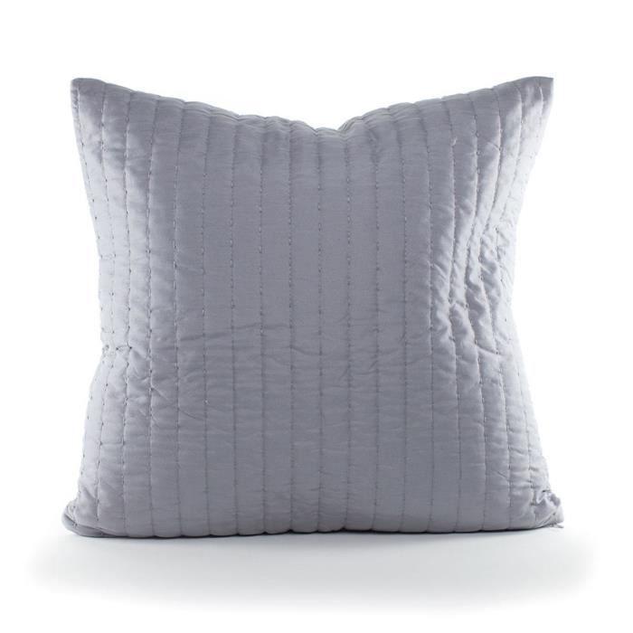 ANDORA Coussin déhoussable LILI 45x45 cm gris