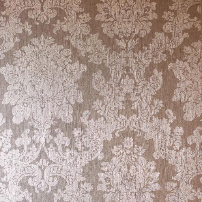 Papier Peint Damasse Feuille Fleur Rose Arthouse Or 294400 Achat