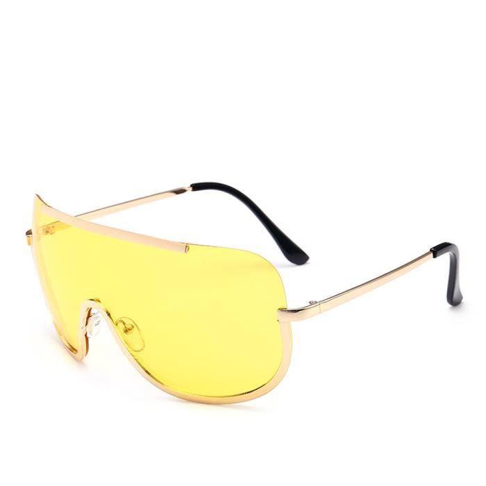 Femmes Vintage Retro Lunettes Mode Unisexe Aviator miroité Lunettes de soleil YE jaune-WDL70712465YE_1234