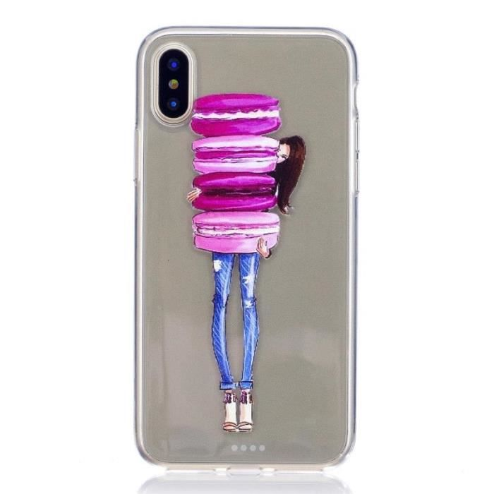 coque silicone iphone x fille