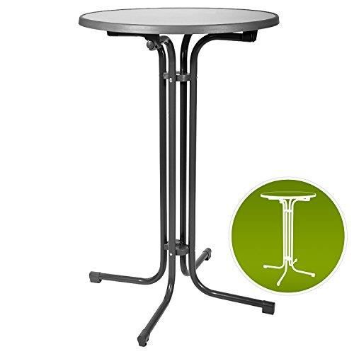 Beautissu Table haute de bistrot Gris 80x110cm Bellini G80110 Mange ...