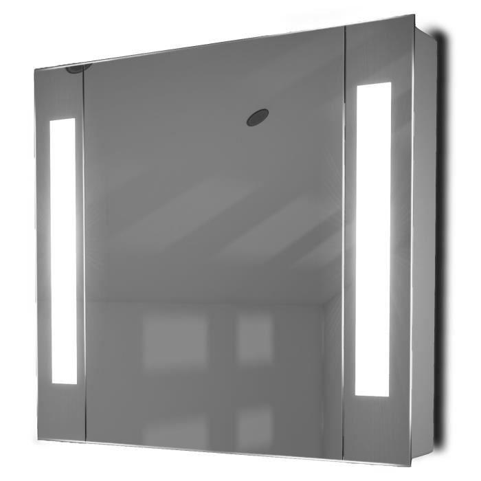 Miroir de salle de bain avec capteur et prise rasoir interne K17W