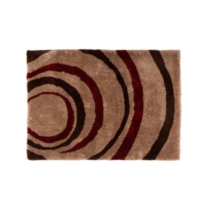 tapis rouge marron achat vente pas cher. Black Bedroom Furniture Sets. Home Design Ideas