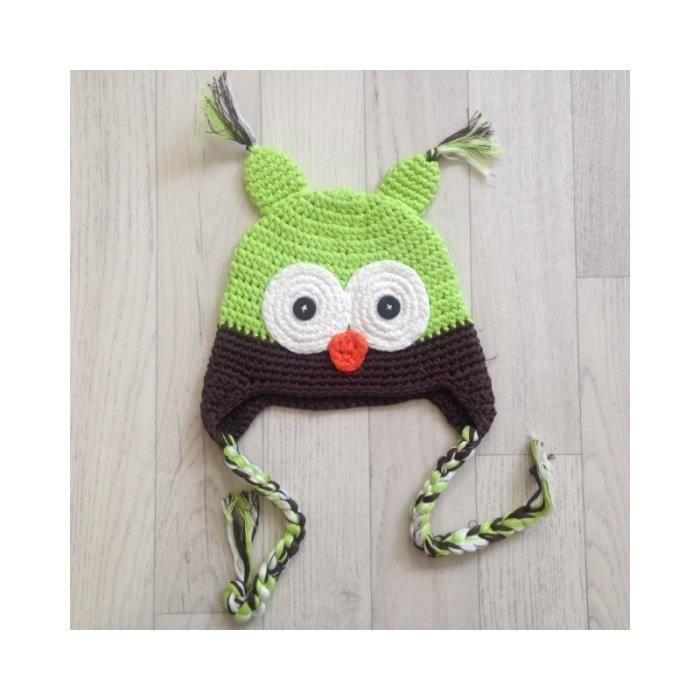 Bonnet chouette bébé en crochet naissance à 3 ans Multicolor - Achat ... f9586a43fbb
