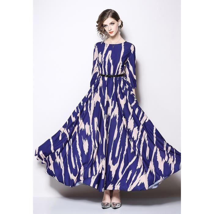 54aa690c1311 élégante nouvelle printemps 2019 femmes maxi robe longue manches 3