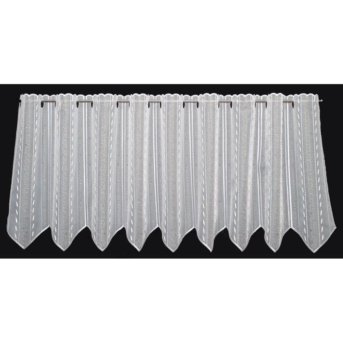 RIDEAU Largeur: 15,5 cm-rideau brise bise blanc-beige-nat