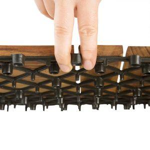... DALLAGE 11x Dalles de terrasse en bois pour 1m² en bois d  ... 4f14631507b3