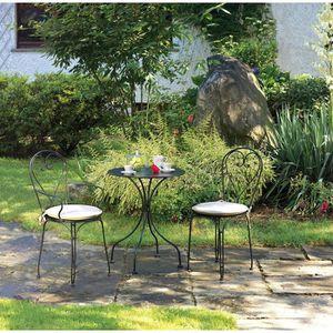 Awesome Table De Jardin Fer Forge Noir Photos Amazing