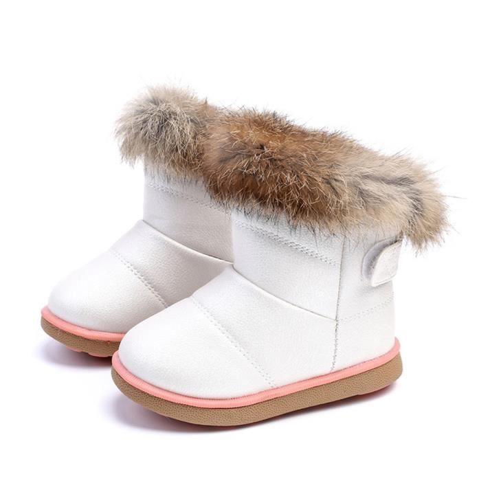 Frankmall®Coton hiver bébé garçons filles enfants chaussures en cuir Martin botte chaussures #WQQ0926001 sLTAFWAJ
