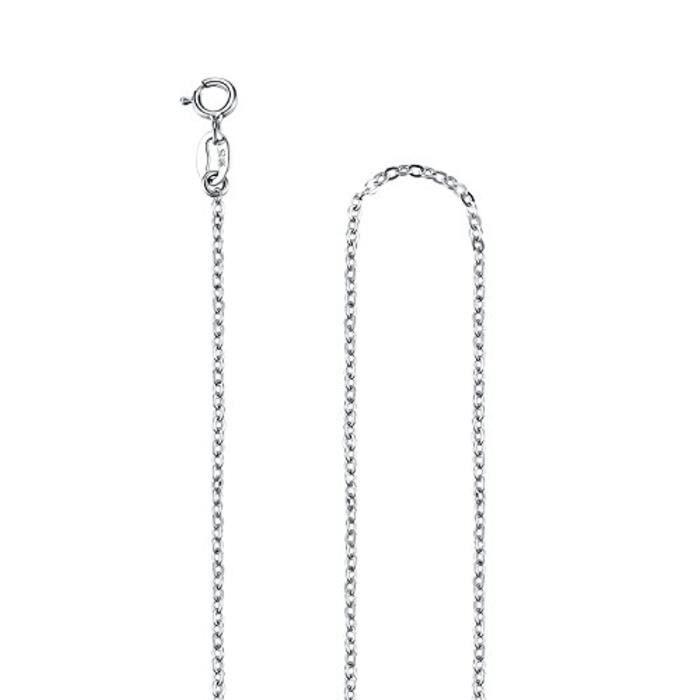 Collier Avec Pendentif Femme Argent Sterling Dauphin Avec Zircone Cubique, Chaîne 45Cm, Zcp042Bi