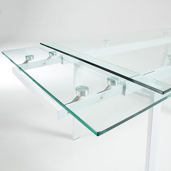 Table Extensible Punch 140(200)x80, blanc et verre - Achat   Vente table à  manger seule Table Extensible Punch 140(… - Cdiscount 95747cd71ab1