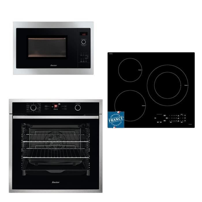 PACK CUISSON SOP5764X Four + SPI5361B Table de cuisson induction + SMS4340B Micro-ondes