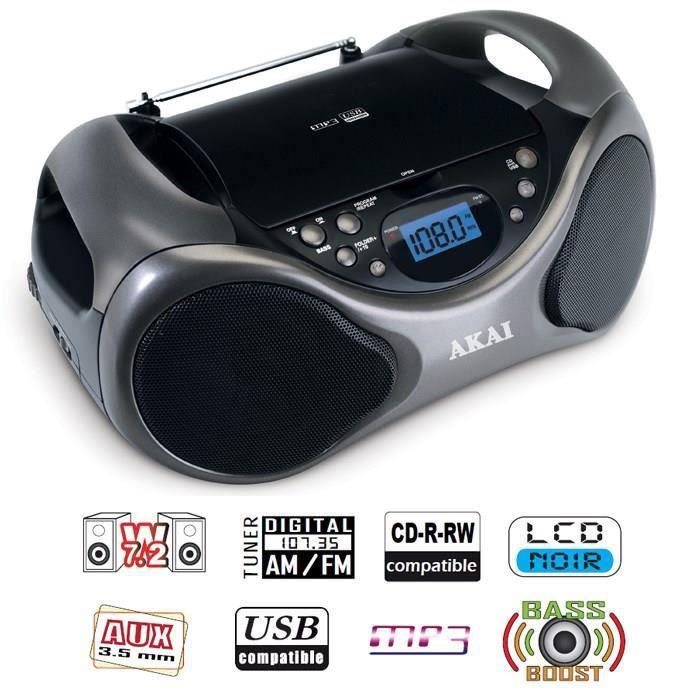AKAI AB-40K Scorpio Lecteur CD portable USB MP3