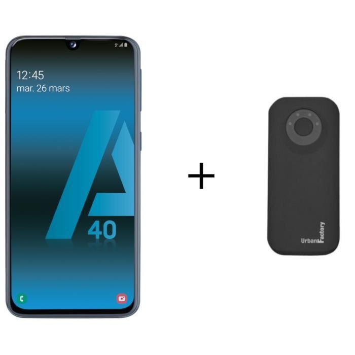 Galaxy A40 Noir + Batterie Externe