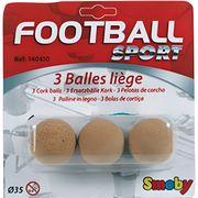 ACCESSOIRE BABY-FOOT SMOBY 3 Balles de Baby Foot en Liège