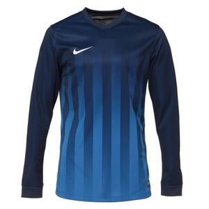 NIKE Maillot Manches longues Striped Division II - Bleu marine