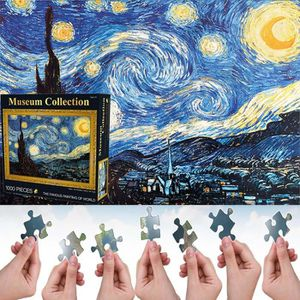 PUZZLE Lot de 1000 Pièces Puzzle en Papier Motif La Nuit