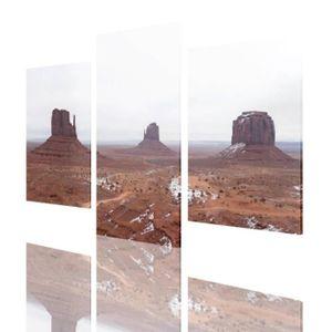 AFFICHE - POSTER Sandstone In Utah USA Split 3 Panels IMPRESSION DE