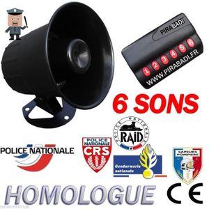 CHARGEUR DE PILES KLAXON SIRENE 6 SONS • UNIVERSEL 12V AUTO MOTO BAT