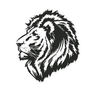 stickers tete de lion achat vente stickers tete de. Black Bedroom Furniture Sets. Home Design Ideas