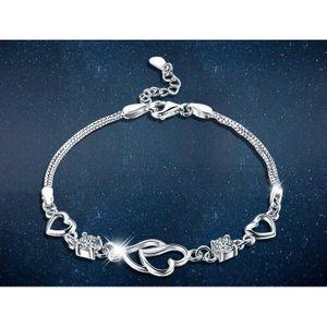 16c51060af227 BRACELET - GOURMETTE LOVE bracelet femme argent 925 plaqué or blanc