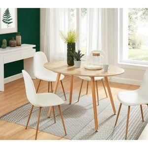 TABLE À MANGER SEULE ROLF Table de séjour vintage ovale en MDF avec pie