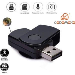 CAMÉRA MINIATURE codomoxo®Porte-Clés Clef USB avec mini Caméra Espi