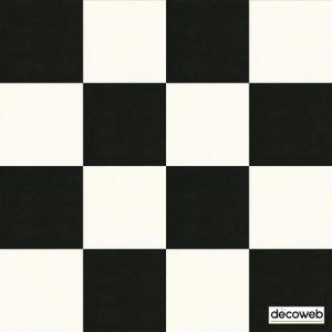 SOLS PVC Sol PVC Best - motif carrelage Damier Blanc Noir -