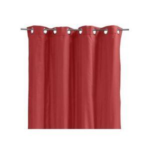 double rideaux rouge et gris achat vente pas cher. Black Bedroom Furniture Sets. Home Design Ideas