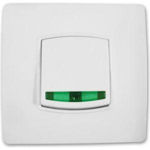 INTERRUPTEUR Interrupteur bouton poussoir voyant  vis + griffes