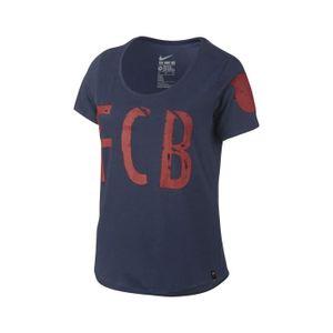 T-SHIRT T-shirt Equipe FC Barcelone Bleu Femme